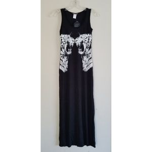 Maxi dress with 2 Tigers NEW!
